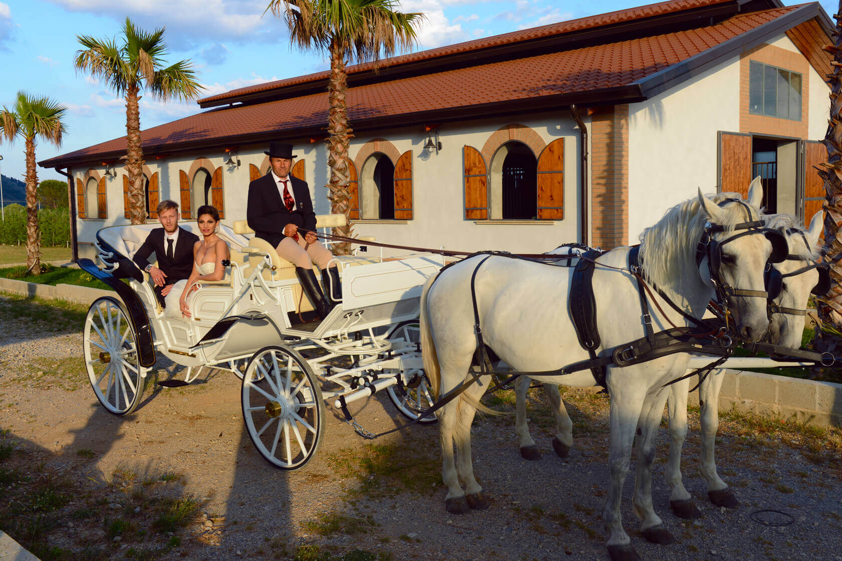 Carrozza per matrimonio